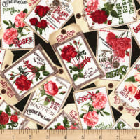 Timeless Treasures Rose Garden Vintage Seed Packs Black