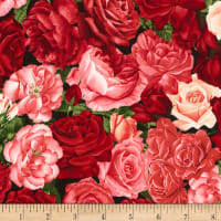 Timeless Treasures Rose Garden Packed Roses Rose