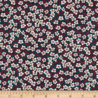 Liberty Fabrics Tana Lawn Ffion Burgundy
