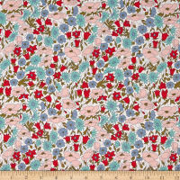 Liberty Fabrics Tana Lawn Poppy and Daisy  Green