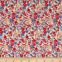 Liberty Fabrics Tana Lawn Emma and Georgina Red