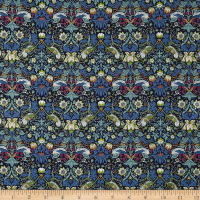 Liberty Fabrics Tana Lawn Strawberry Thief Navy