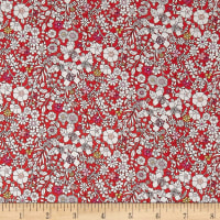 Liberty Fabrics Tana Lawn June's Meadow Red