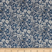 Liberty Fabrics Tana Lawn June's Meadow Navy