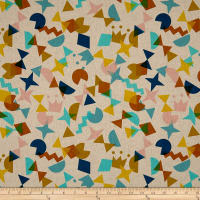 Cotton + Steel Canvas Paper Cuts Shape Up Topaz