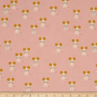 Cotton + Steel Sunshine Little Friends Pink