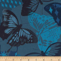 Cotton + Steel Flutter Flutter Navy