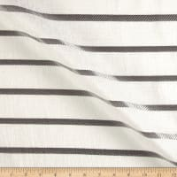 "Europatex Striped 110"" Sheers Grey"