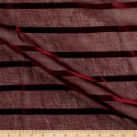 "Europatex Striped 110"" Sheers Burgundy"