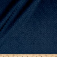 Europatex Wave Embossed Velvet Navy