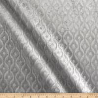 Europatex Wave Embossed Velvet Silver