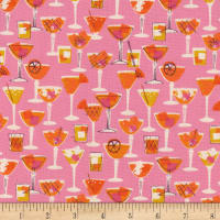 Cotton + Steel Poolside Shaken Pink