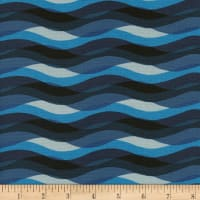 Cotton + Steel Poolside Waves Blue