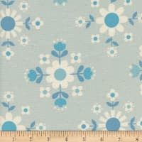 Cotton + Steel Welsummer Florametry Ice