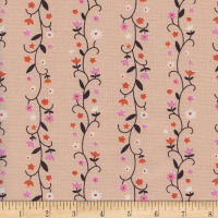 Cotton + Steel Welsummer Daisy Vines Peachy