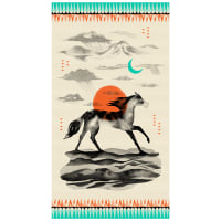 "Cotton + Steel Santa Fe 24"" Panel Sunrise Red"