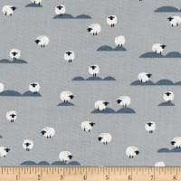 Cotton + Steel Panorama Cloud Sheep Newspaper
