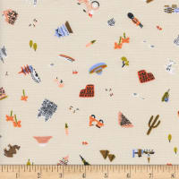 Cotton + Steel Rifle Paper Co Amalfi Explorer Natural