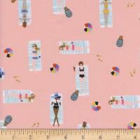 Cotton + Steel Rifle Paper Co Amalfi Sun Girls Coral