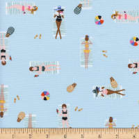 Cotton + Steel Rifle Paper Co Amalfi Sun Girls Sky