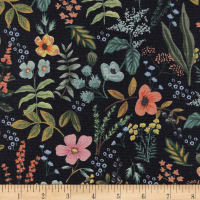 Cotton + Steel Rifle Paper Co. Canvas Amalfi Herb Garden Midnight