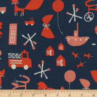 Cotton + Steel Christian Robinson Spectacle Commotion Navy