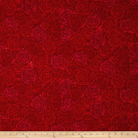Sugar Berry Candied Roses Metallic Radiant Ruby