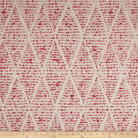 Premier Prints Foster Flax Basketweave Raspberry