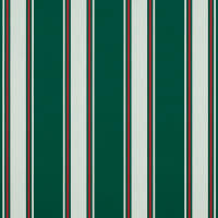 "Sunbrella 46"" Awning Stripe Premium 4790-0000 Forest Green Fancy"