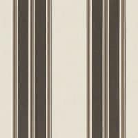 "Sunbrella 46"" Stripes Premium Black/Taupe Fancy"
