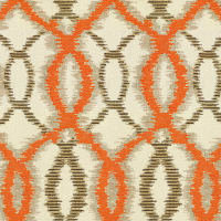 Abbey Shea Worthy Jacquard Celeste Orange