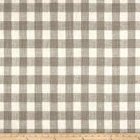 Premier Prints Buffalo Plaid Slub Canvas Ecru