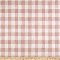 Premier Prints Buffalo Plaid Slub Canvas Blush