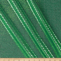 Iridescent Sequin Dot Mesh Green