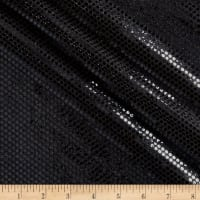 Iridescent Sequin Dot Mesh Black