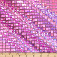 Iridescent Sequin Square Hologram Mesh Lilac