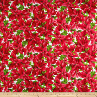 Maywood Studio Poinsettia & Pine Packed Poinsettia Cream