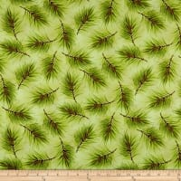 Maywood Studio Poinsettia & Pine Fresh Pine Light Green