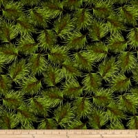 Maywood Studio Poinsettia & Pine Fresh Pine Black