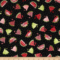 Sprinkle Sunshine Watermelon Patch Black