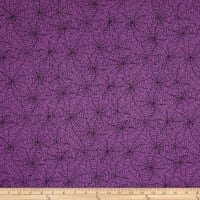 Kimberbell Designs Broomhilda's Bakery Spiderweb Purple Black