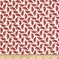 Maywood Studio The Little Things Variegated Leaves Natural Red