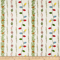 Maywood Studio Christmas Joys Flannel Garland Stripe Natural