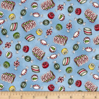 Maywood Studio Christmas Joys Flannel Christmas Candy Blue
