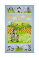 "Susybee Hildy the Goat 36""Panel Blue"