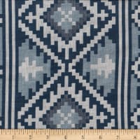 Global Textures Jacquard Cotton Blend Aztec Blue