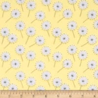 Flannel Fluffy Bunny Dandelion Puffs Yellow