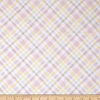 Flannel Fluffy Bunny Plaid Pink