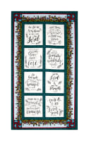"Covered In Truth 24"" Words Of Inspiration Panel Lt Blue"