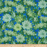 Botanical Blooms Queen Anne's Lace Med Blue